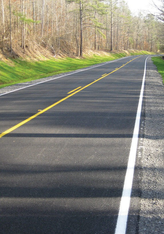 The new $2.2 million resurfacing job on county road 25 removed just over four miles from the county's 11.57-mile inventory of poor and very poor roads. The road runs from U.S. 231 at Summit to the Marshall County line.