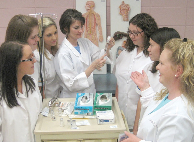 Nursing students work toward LPN (licensed practical nurse) degrees in program offered by Blount County Career Tech Center