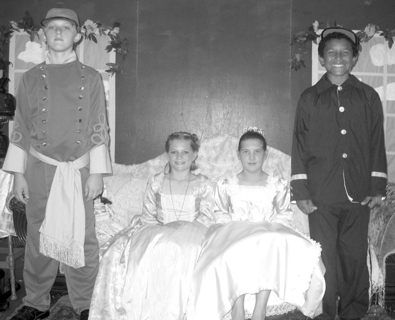 (From left) Tristan Rittenhouse, Seana Kelley, Sara Horton, and Malik Wood show off their period attire.