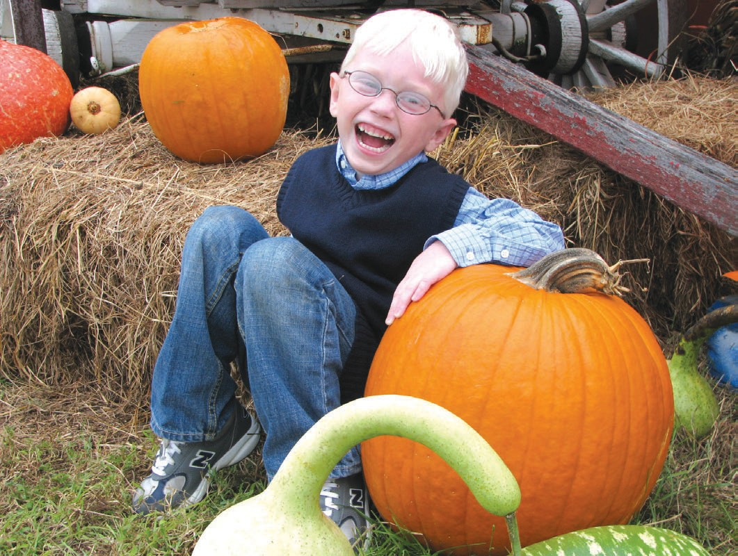 Tyler must have found his Great Pumpkin!