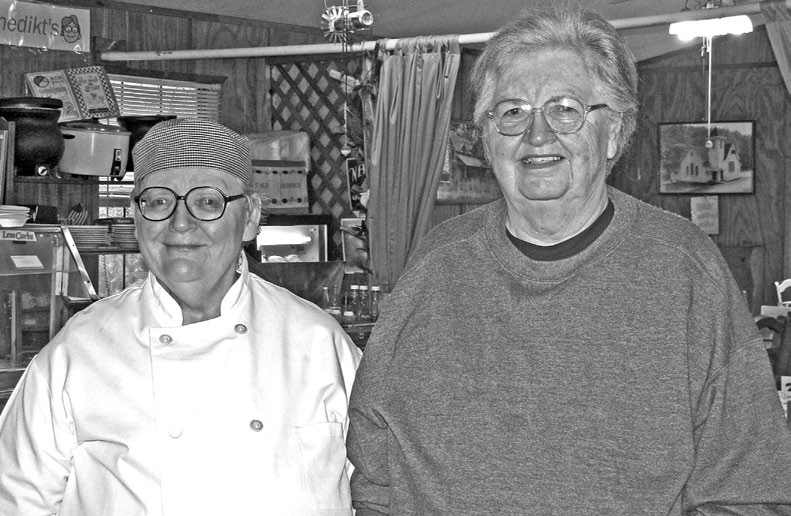 Joice and Ruth Benedikt always extend a warm welcome to guests at their restaurant.