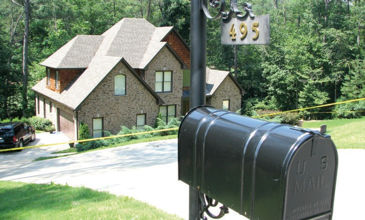 The body of 37-year-old Michael Shannon Watkins was found in his home on St. Andrew's Parkway at Limestone Springs.