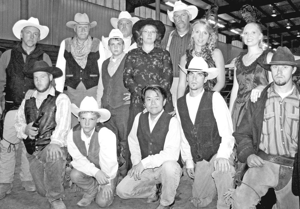 Shown are (kneeling) Reagan Curvin, Chaz Graham, Yung Lam, Justin Mallicoat, and Jason Yates; (standing) Chuck Graham, Troy Crosson, Paul Nolen, Keeper Parker, Gina Lam, Byron Houck, Rebekah Graham, and Tiffany Yates.
