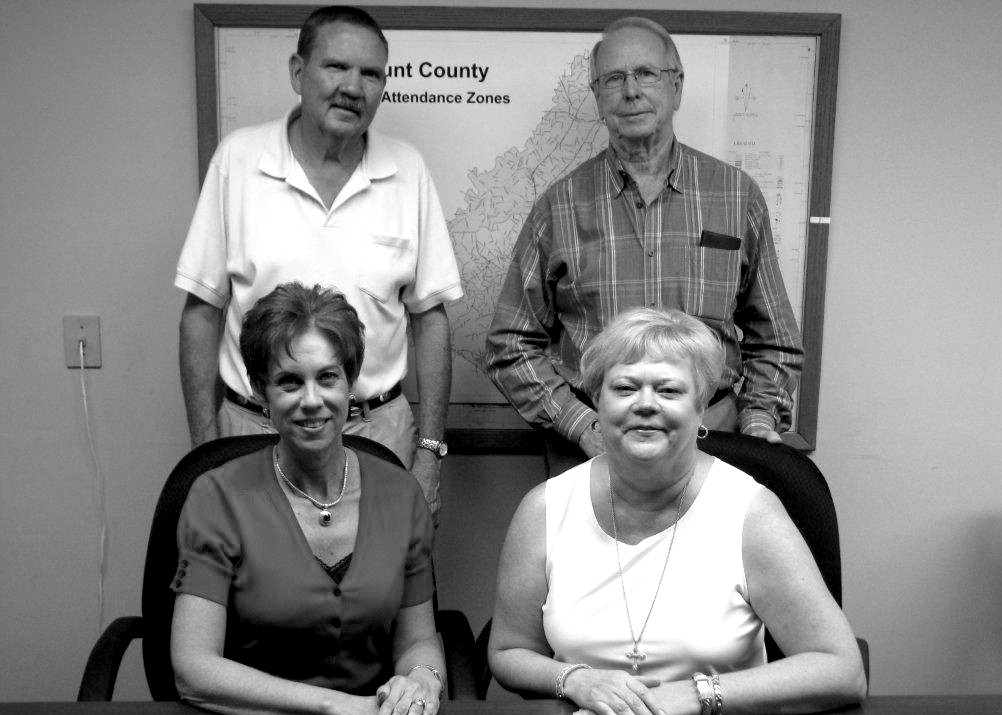 Billy Puckett, Bob Harvey, Shelia Gilliland, and Sharon Dawson (clockwise from top left) are the partners of Blount Realty Team, which effectively opened in the former Century 21 building in Oneonta this week. The four long-time agents will also have agents Pat Self and Amy Blethen with them, as well as secretary Shirley Chapman. Blount Realty Team is proud to be locally owned and operated and will handle residential, commercial, or farm property for buyers, sellers, and renters. Blount Realty Team will be open Monday through Friday from 9 a.m. to 5 p.m. and after-hours and weekends by appointment. For more information, phone 274-7707. – Rob Rice