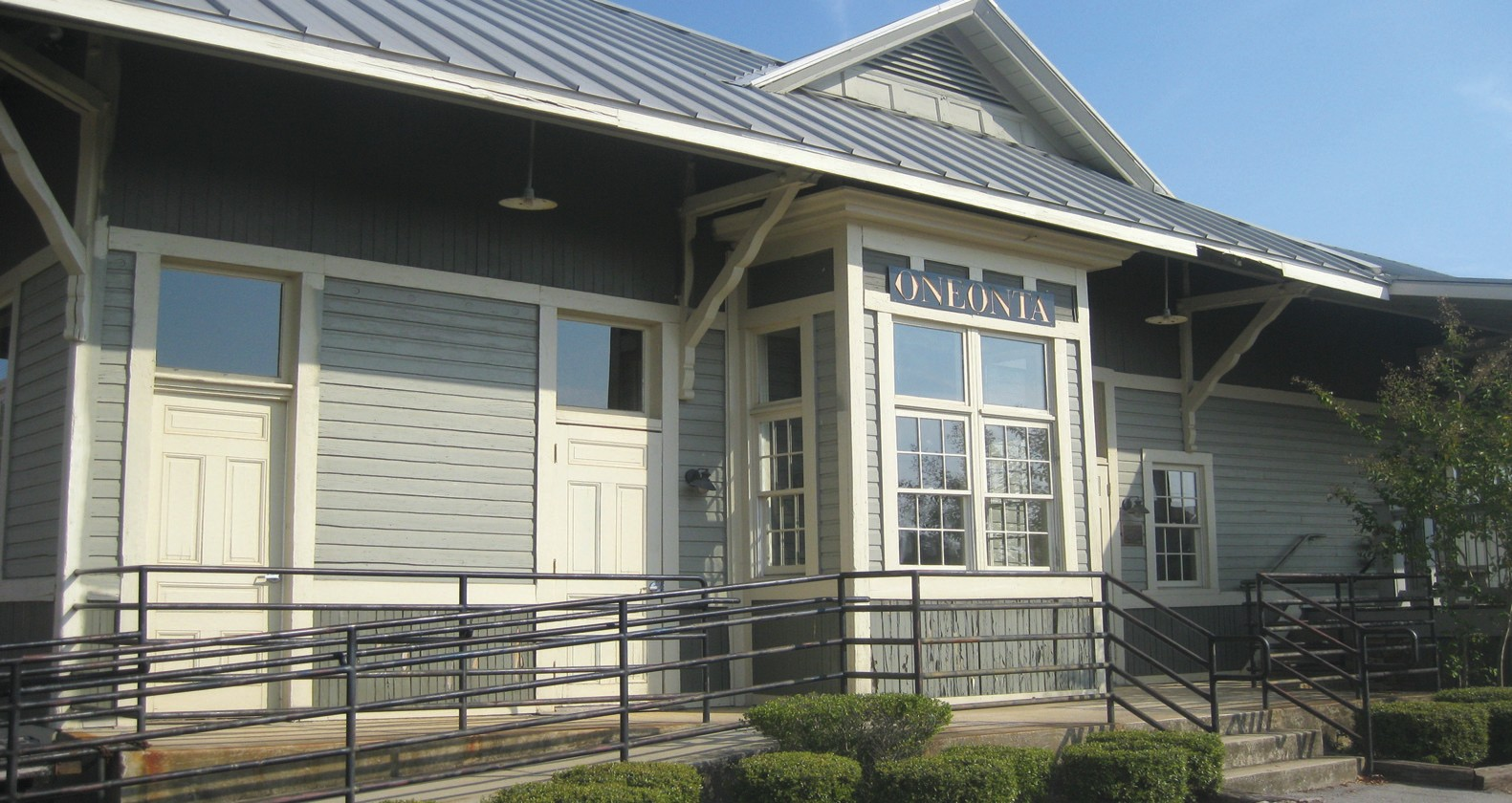 L&N DEPOT at Oneonta Rec Park, a piece of history captured, is maintained by the city and used by widely varying groups.