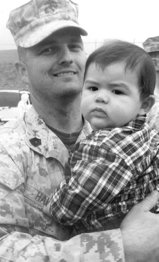 MSGT Andy Hallman and son Lathan Tyler
