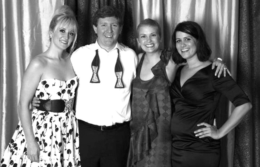 Ashleigh Timmerman (far right) with Angela Karen, Walter Brown, and Laura Crandall Brown