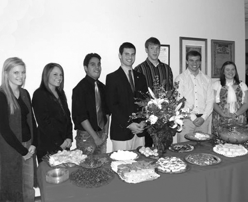 DAR Good Citizens representing their schools are (from left) Vanessa Denny, Kayle Dickie, Samuel Colunga, Travis Sims, Nathan Adams, Luke Awtrey, and Jessica Goss.