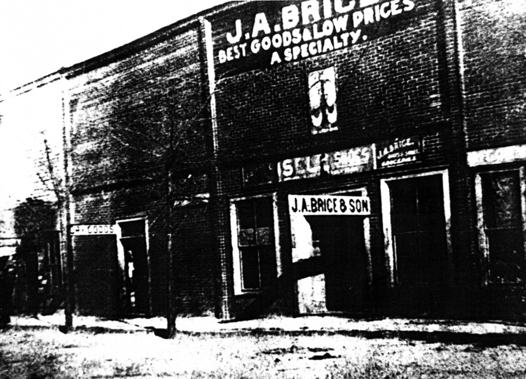 J.A. Brice's store, circa 1910, from the Jack Fendley collection of historic Oneonta photos. The building was located on main street downtown near the present site of Downtown Diner, according to Oneonta coin dealer Patrick Fendley. The store apparently sold general merchandise. It seems to have gone out of business at some time before the 1930s. According to Fendley, a number of local stores issued such tokens as rewards for purchase of merchandise, much as coupons are issued today. They are considered very rare. Readers who can provide additional details about the store are encouraged to call Amy Rhudy at 625-6905.