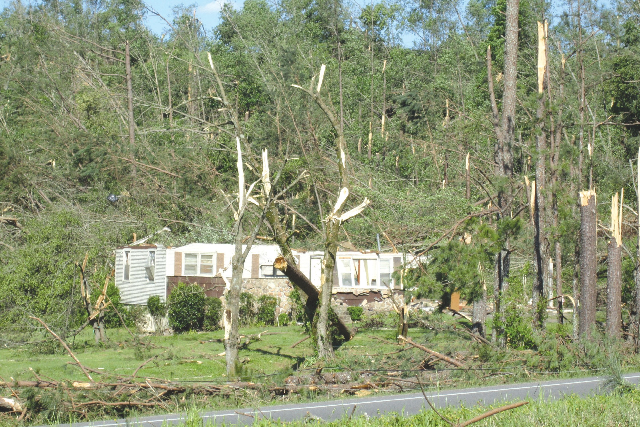 U.S. 278 near Brooksville; Tommy Murphy property was for sale and not occupied at time of storm.