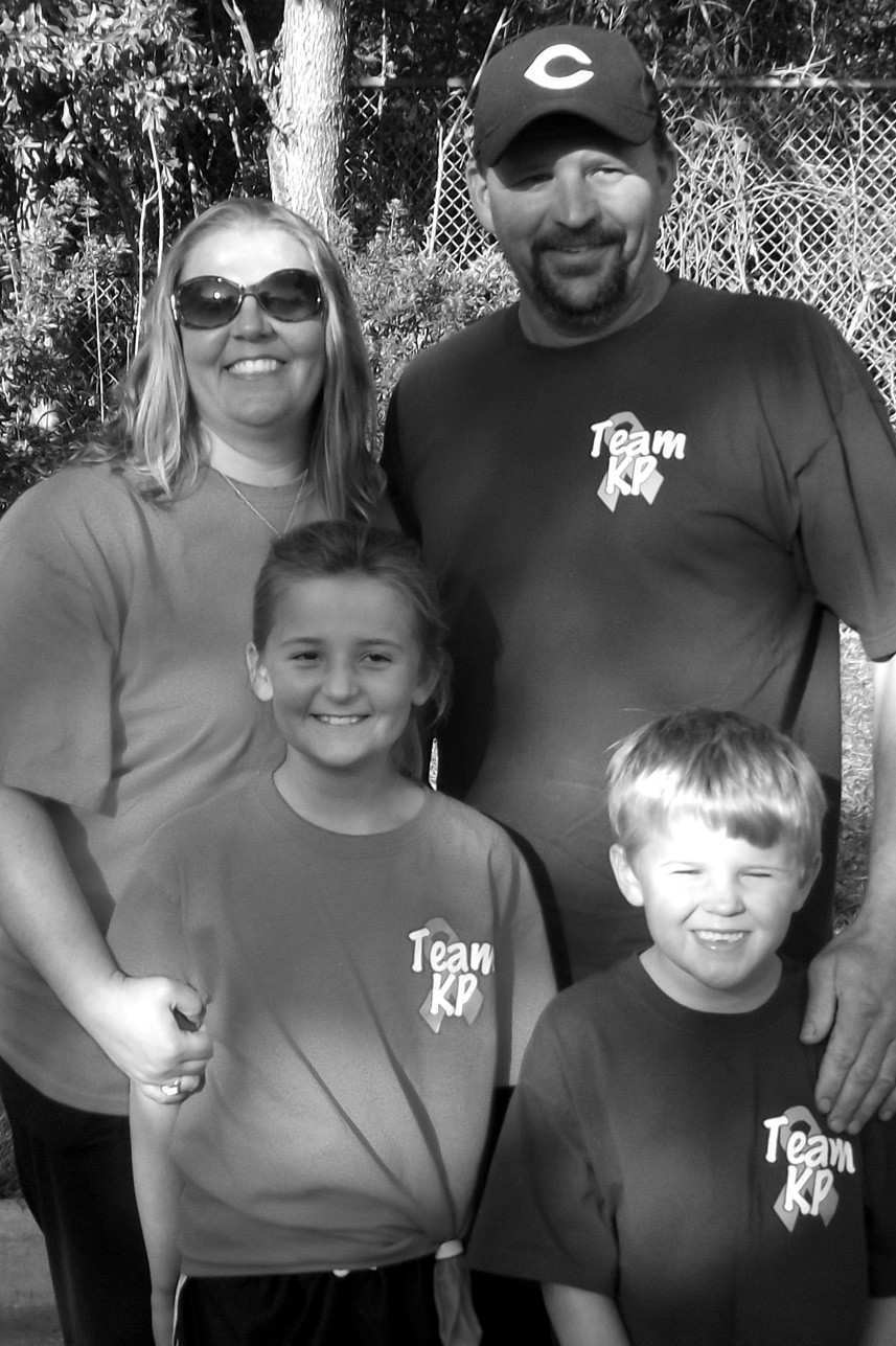 Coping admirably with diabetes, Kahtlyn Painter is supported by brother Brayden and parents Cassie and Darryl.