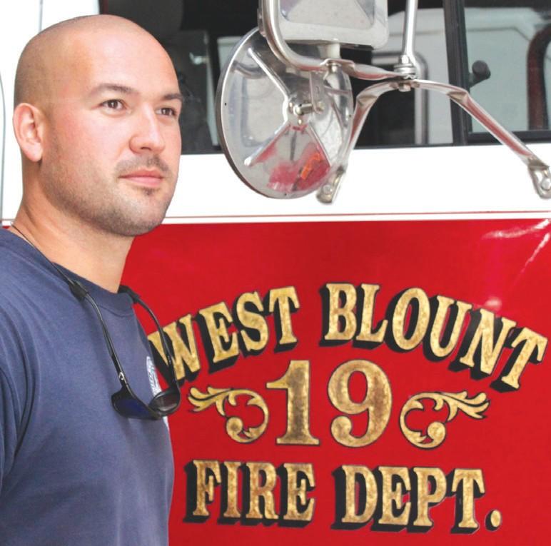 Scotty Schnittker, fire chief of West Blount VFD since June.