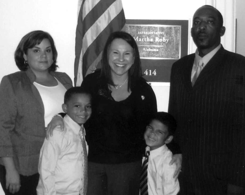 Pictured from left: Melissa Jennings, Dallas Jennings, U.S. Rep. Martha Roby, Dailan Jennings, and Willie Jennings