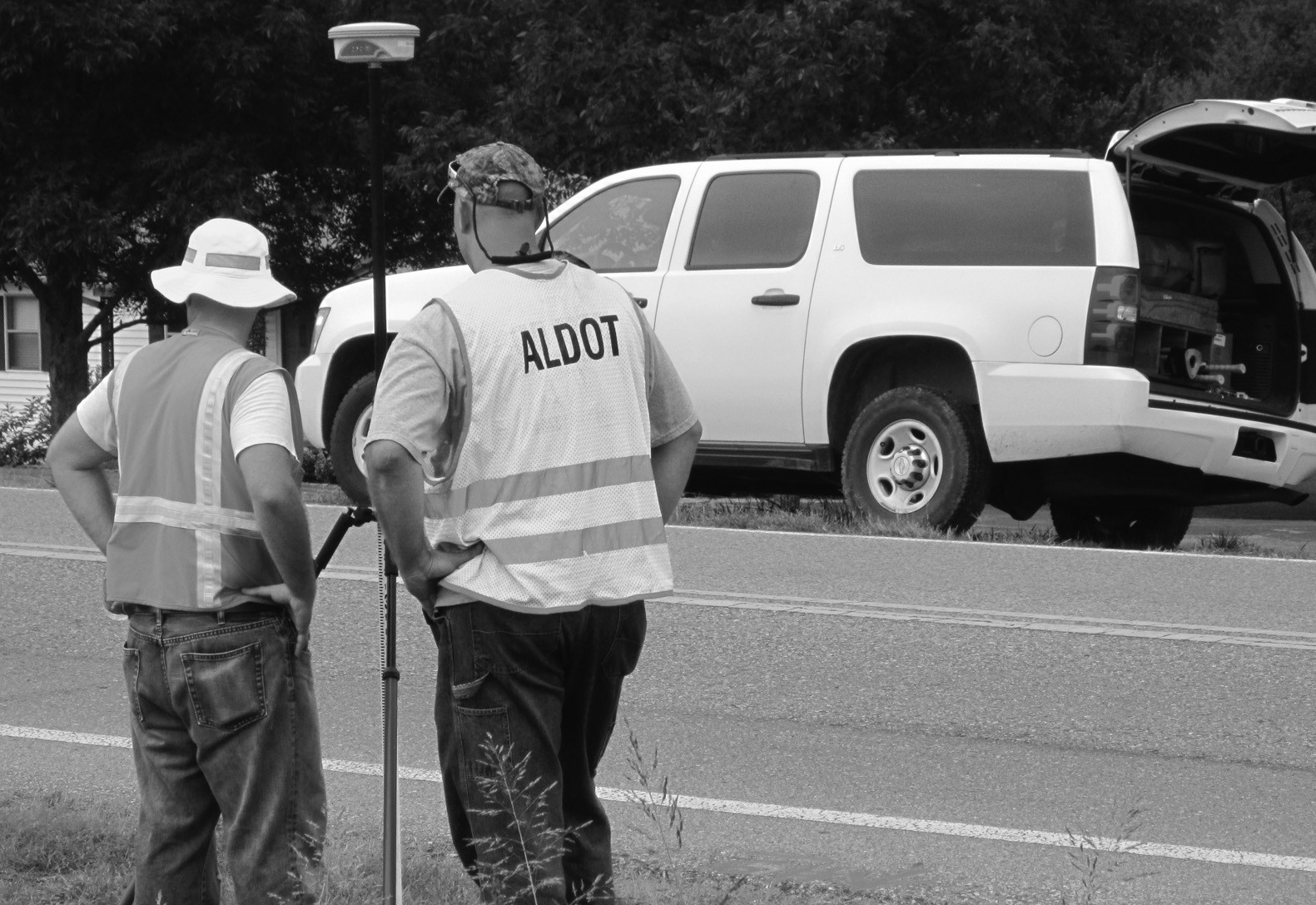 ALDOT surveyors began double checking right-of-way readings this summer in preparation for property acquisition along Ala 160.