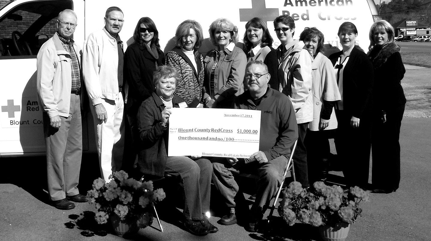 Front row: Shelia Gilliland, Mike Bates (Red Cross executive director for Blount, Cullman, and Winston counties). Back row from left: Bob Harvey, Billy Puckett, Donna Black, JoeAnn Moss, Sheila Marbut, Betty Gowins, Barbara Anderson, Laura Whitley, Barbara Hood, Lisa Newton.