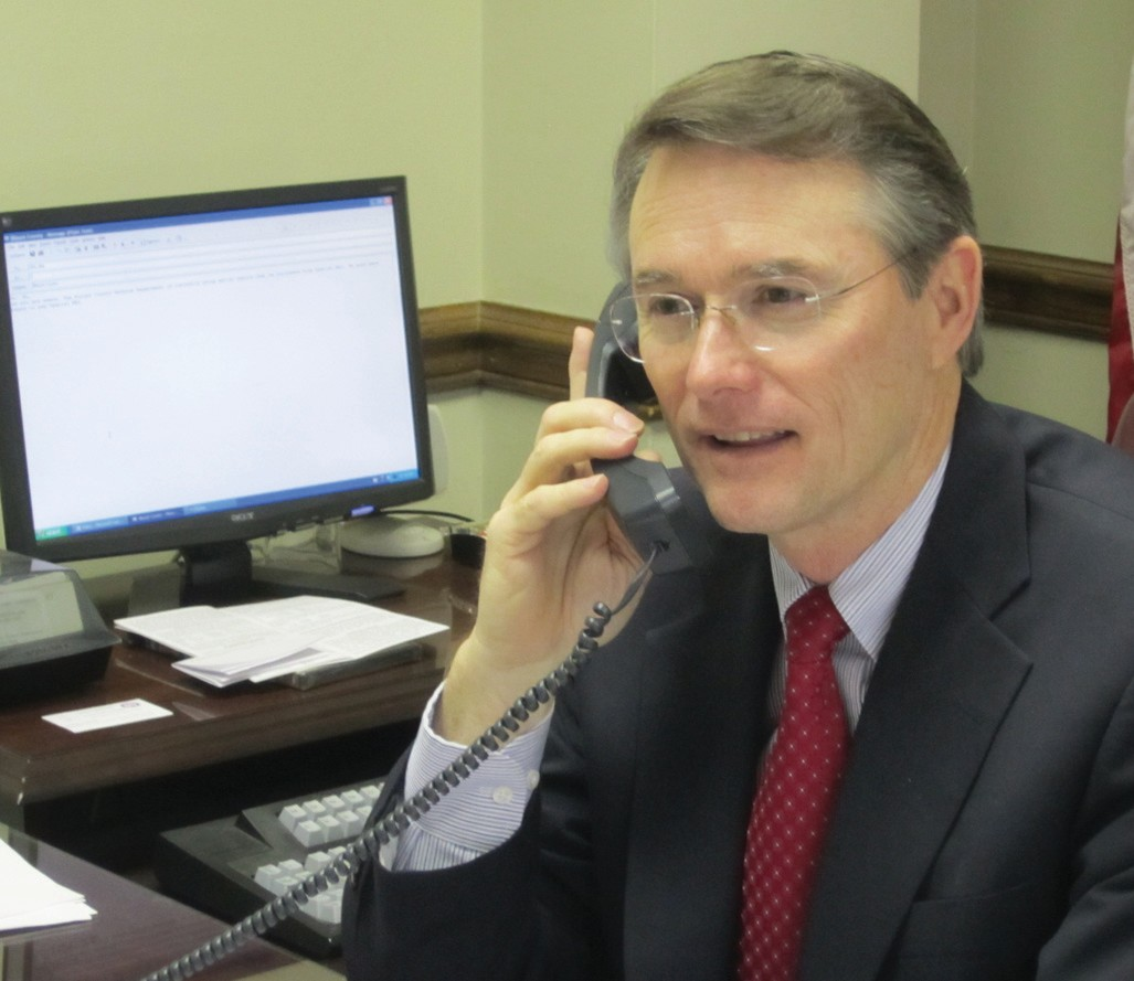 Like his father before him. If he continues unopposed for the job of probate judge/ commission chairman of Blount County, Chris Green will follow in his father Frank Green's footsteps from a generation ago.