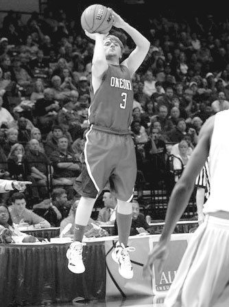 Ryne Wester lines up a 3-pointer during last week's semifinal game.