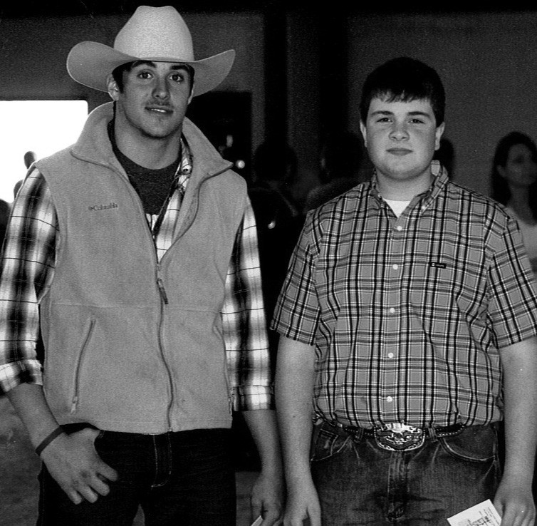Houston Jones, left, received the Star Junior Cattleman Award and Will Graves received the Premier Exhibitor Award.