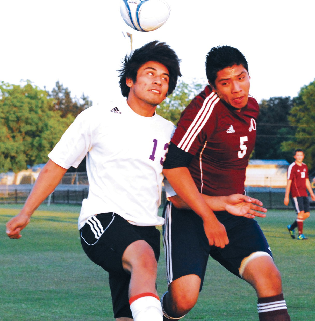Susan Moore's Freddy Hernandez (left) and Oneonta's Alejandro Velazquez battle for the ball during last week's game at Susan Moore. The Bulldogs wrapped up an unbeaten regular season with a 4-0 win over the Redskins. Susan Moore is 10-0 on the year and has outscored its opponents 57-3. The Bulldogs, champions of Region 6, hosted Region 5 runner up Faith Christian of Anniston in the first round of the playoffs last night. The Oneonta girls, the Region 6 runner-up, traveled to Region 5 champion Jacksonville in a first round game last night. – Rob Rice