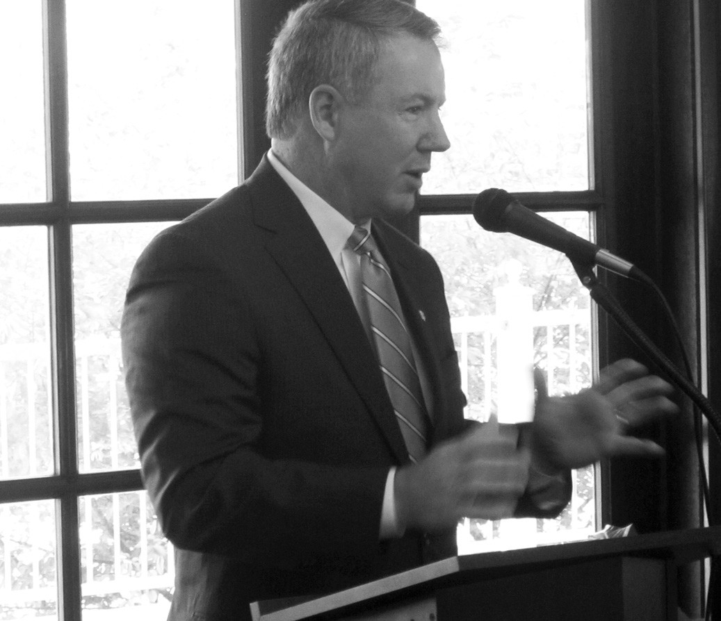 """Brian Hilson, president and chief operating officer of the Birmingham Business Alliance (BBA), told a modest crowd at the chamber breakfast last week that the Northern Beltline project connecting east and west Jefferson County will create """"easily the biggest economic impact in the area we will ever see."""" The BBA has been a major supporter of the oft-delayed project. Hilson gave an overview of """"Blueprint Birmingham"""" which he described as a four-part strategic plan for the seven-county Birmingham metro area. """"The thing I like about it is that it's not just a market strategy, but it actually works on the issues to make the area more marketable."""" The issues revolve around education, workforce, leadership, transportation, and infrastructure, he said. """"Where are you in terms of the critical variables?"""" he said in answer to a question about how those in the room could help the county progress. The breakfast was sponsored by Spring Valley Beach. – Ron Gholson"""