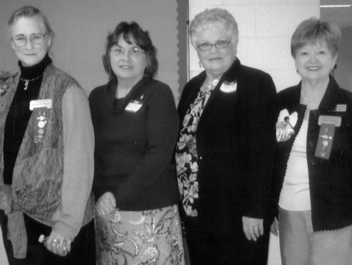 From left: Bonnie Shanks, Beta state president, Linda Williams, incoming Beta Delta chapter president, Phyllis Russell, outgoing Beta Delta president, and Vivian Haley, District III director.