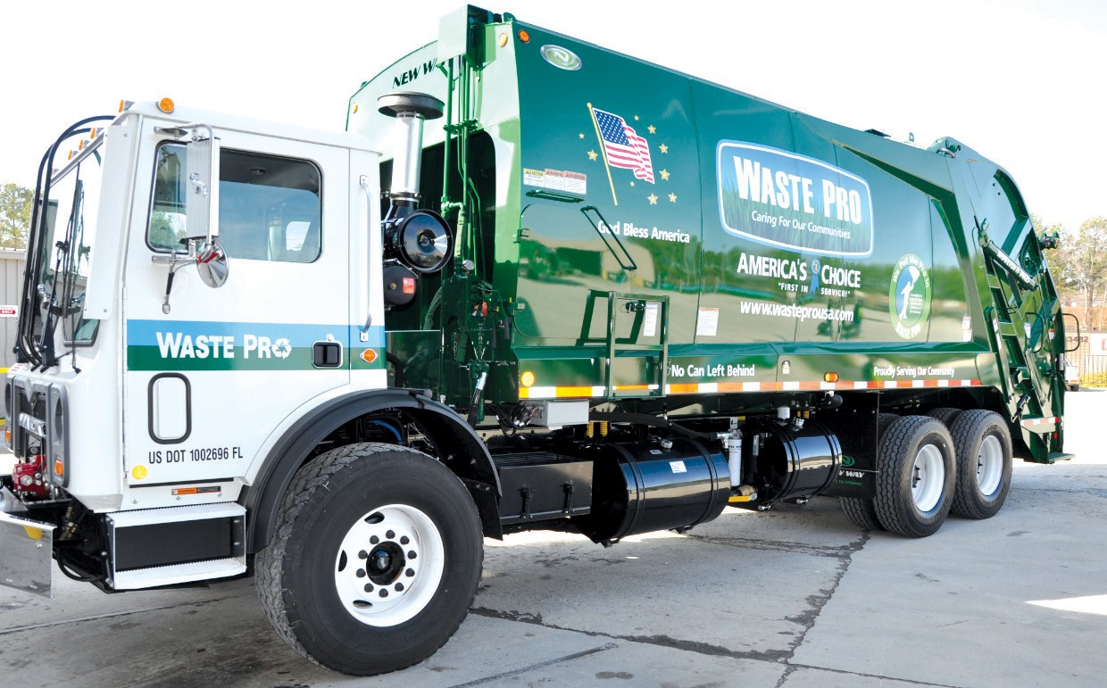New truck in town. Waste Pro, of Longwood. Fla., won the bid for garbage removal within the city limits of Locust Fork.