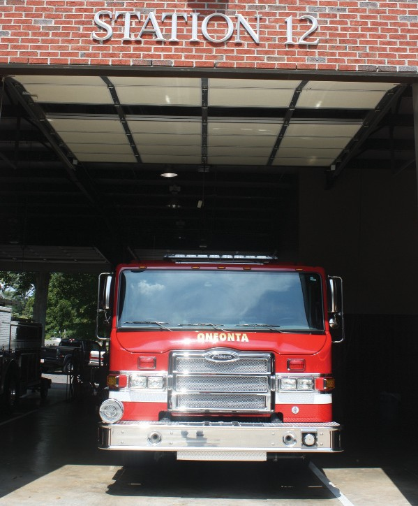 The Oneonta Fire Department houses two fire trucks at the main station and another at the Limestone Springs station.