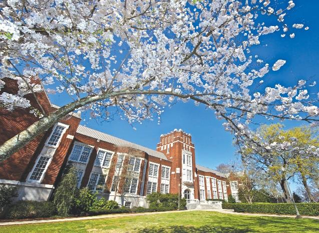 Springtime at Bibb-Graves Hall on the JSU campus