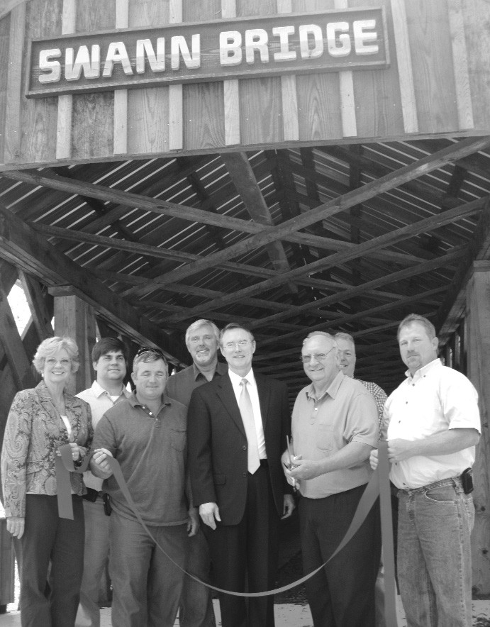 County officials and activists welcomed the reopening of two of the county's three covered bridges.