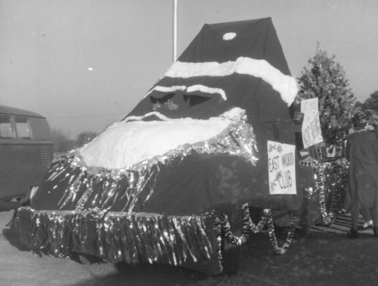 Eastwood Community's float in the 1963 Christmas Parade. Taken by the late Clyde Butler of Oneonta.
