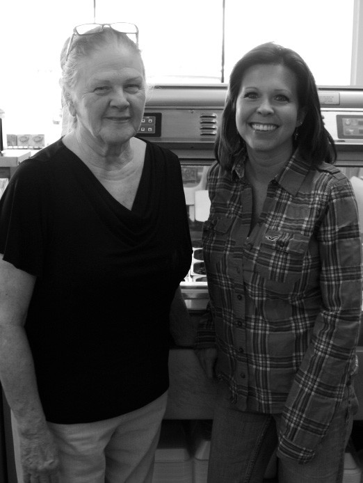 Ruth Whitworth, left, and Lorinda Kirby at the Cleveland Chevron