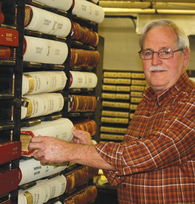 Andy Marsh – records keeper at the archives department located in the basement of the Blount County Courthouse.