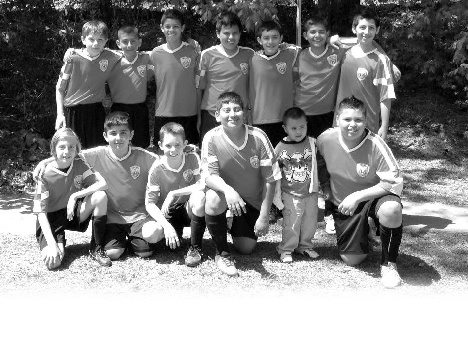 The Oneonta Revolution went 3-0 last month and won the Hoover Havoc Soccer Tournament. The Revolution defeated teams from Opelika, Pell City/Lincoln, and Gadsden to win the tournament. Pictured are (front row, left to right) Jason Manstream, Steven Herrera, John David Hutchens, Derik Buenrostro, and Junior Nunez (with his little brother). Back row (l to r) Jackson Wright, Jesus Aguilar, Mauricio Castro, Anthony Cervantes, Jason Mejia,, Luis Arreguin, and Erick Vargas. Coaches Brandall Wright and Eric Vargas are not pictured.