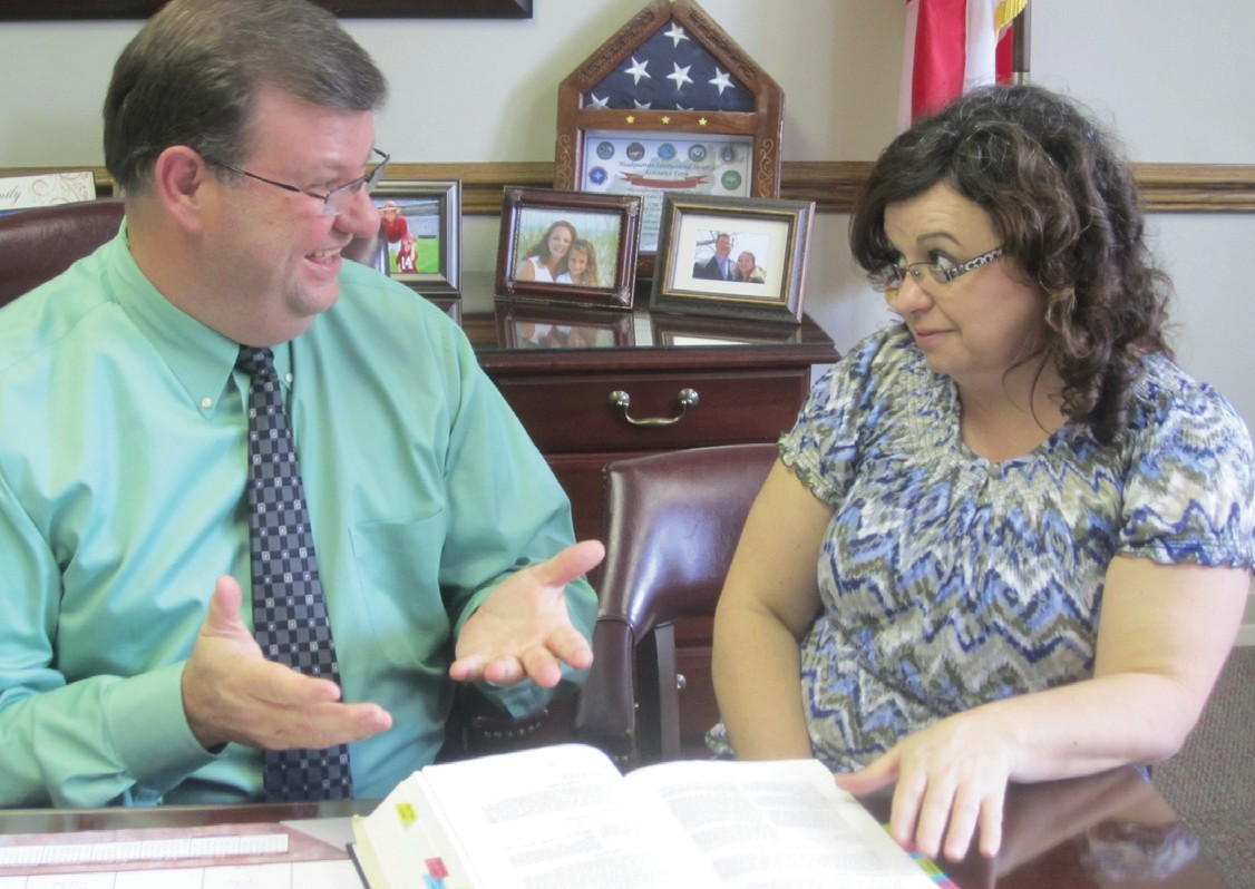 Revenue Commissioner Gregg Armstrong and deputy revenue commissioner Sandy Buchanan discuss the June 4 mailing of property tax Notice of Value statements. County residents whose property has increased in value since last year will receive them in the mail soon. Those whose property did not increase in value will not receive notices.