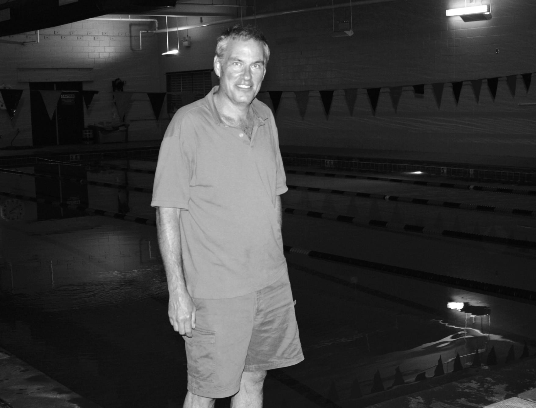 Swim coach Alan Farrow has coached at Auburn and Georgia Tech.