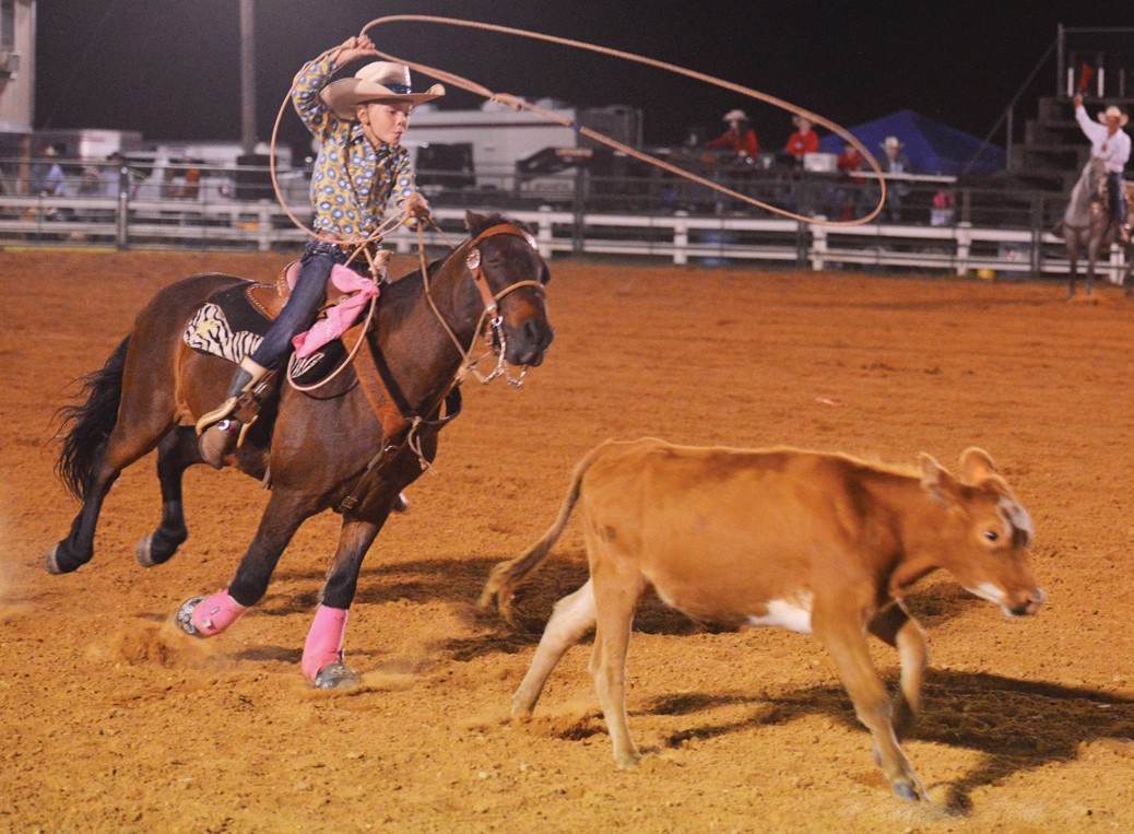 Eight-year-old Dilyn Barron will compete this weekend during the North Alabama Youth Rodeo.