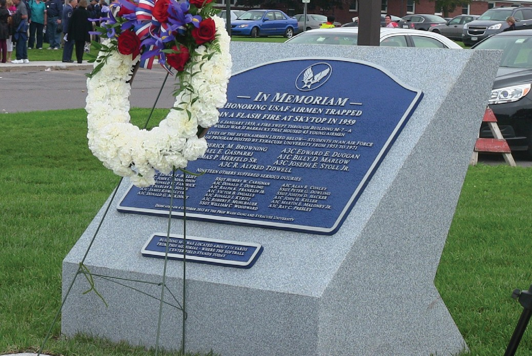 Oneonta native Alfred Tidwell is one of the seven airmen recognized on the memorial at Syracuse University.