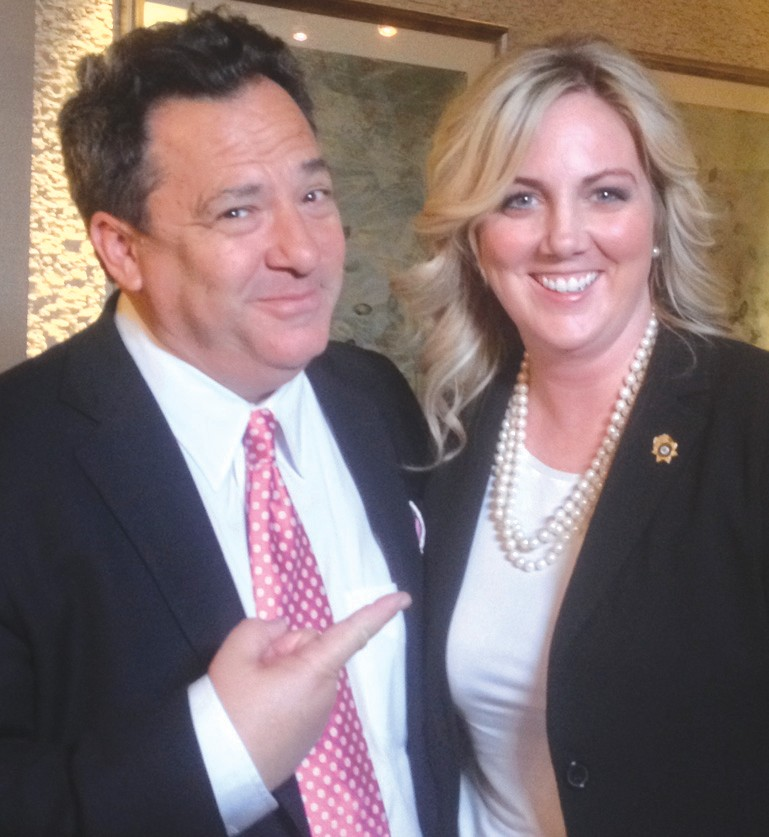 Blount County District Attorney Pamela Casey, pictured with NBC/Dateline correspondent Josh Mankiewicz
