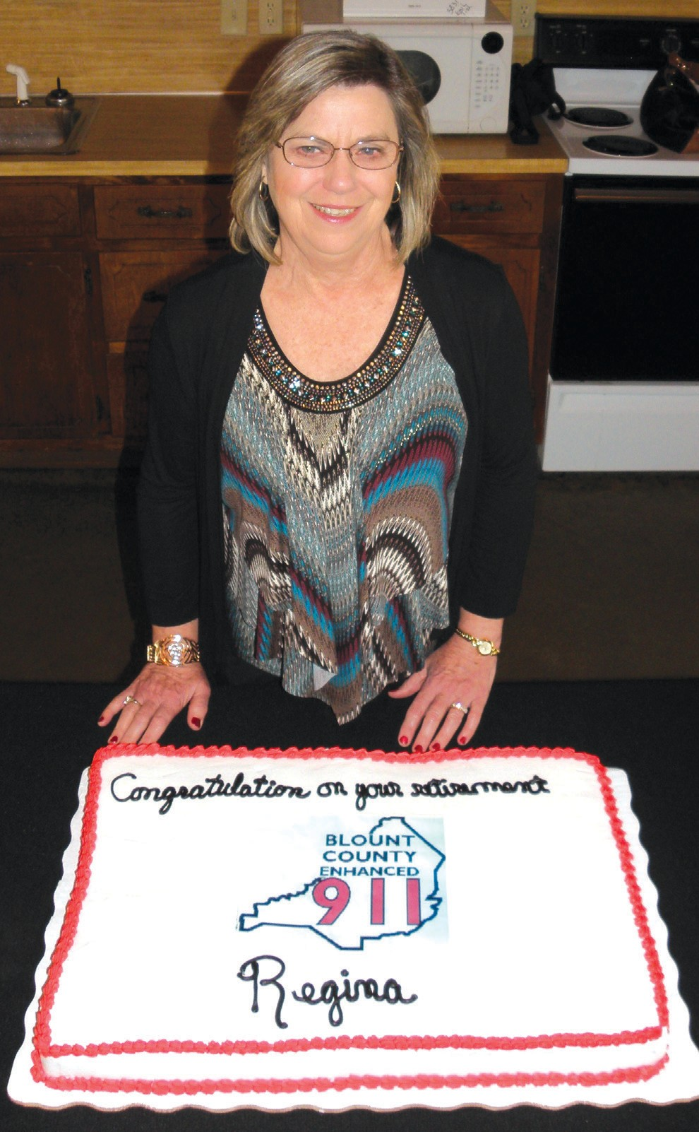 """Last month, Regina Wilson retired after working in public safety communications for Blount County for 34 years. Wilson begin her career in 1979 dispatching for the Sheriff's Department under Sheriff J.C. Carr. In 1993, she became the first communications supervisor for the newly-formed Blount County 911. Only a month after transition into the position, she supervised the activation of the first consolidated calltaking and dispatch system in the county during the blizzard of March 1993. Throughout her years with 911, she oversaw numerous procedural and technological improvements to the center, and in July 2000, she became the assistant administrator. """"Blount County 911 has always been recognized as one of the premier 911 calling systems in the state due mainly to Regina's dedication to taking care of the responders and residents of the county. She will be greatly missed,"""" said Blount County Emergency Management Agency director Max Armstrong. – Nicole Singleton"""