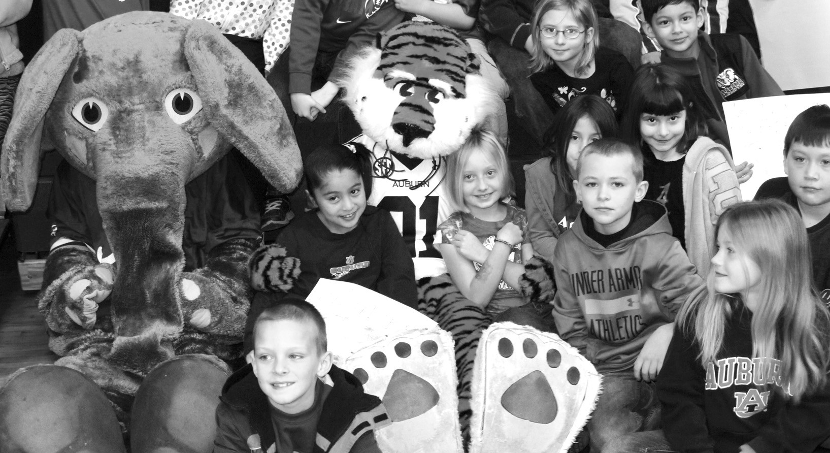 Last week, Blount County students celebrated Reading and Writing Week, and Susan Moore Elementary students began the week with a special visit from Big Al and Aubie. The two college mascots came to the school for a reading and writing pep rally. Carol Pullen, instructional coach at Susan Moore Elementary, said she was thrilled when both mascots agreed to attend the festivities. 'We didn't even know it was an option, but Jodie Jacobs, Blount County school improvement specialist, recommended it, and when we e-mailed and asked both of them said yes.' The theme of the week was Reading and Writing Champs, which fit perfectly with inviting the mascots to the school. 'Reading and Writing Week is meant to promote reading and writing in the classroom and get students motivated to do that on their own time when not being forced,' Pullen said. 'We want to instill a lifelong love for reading and writing.' – Nicole Singleton