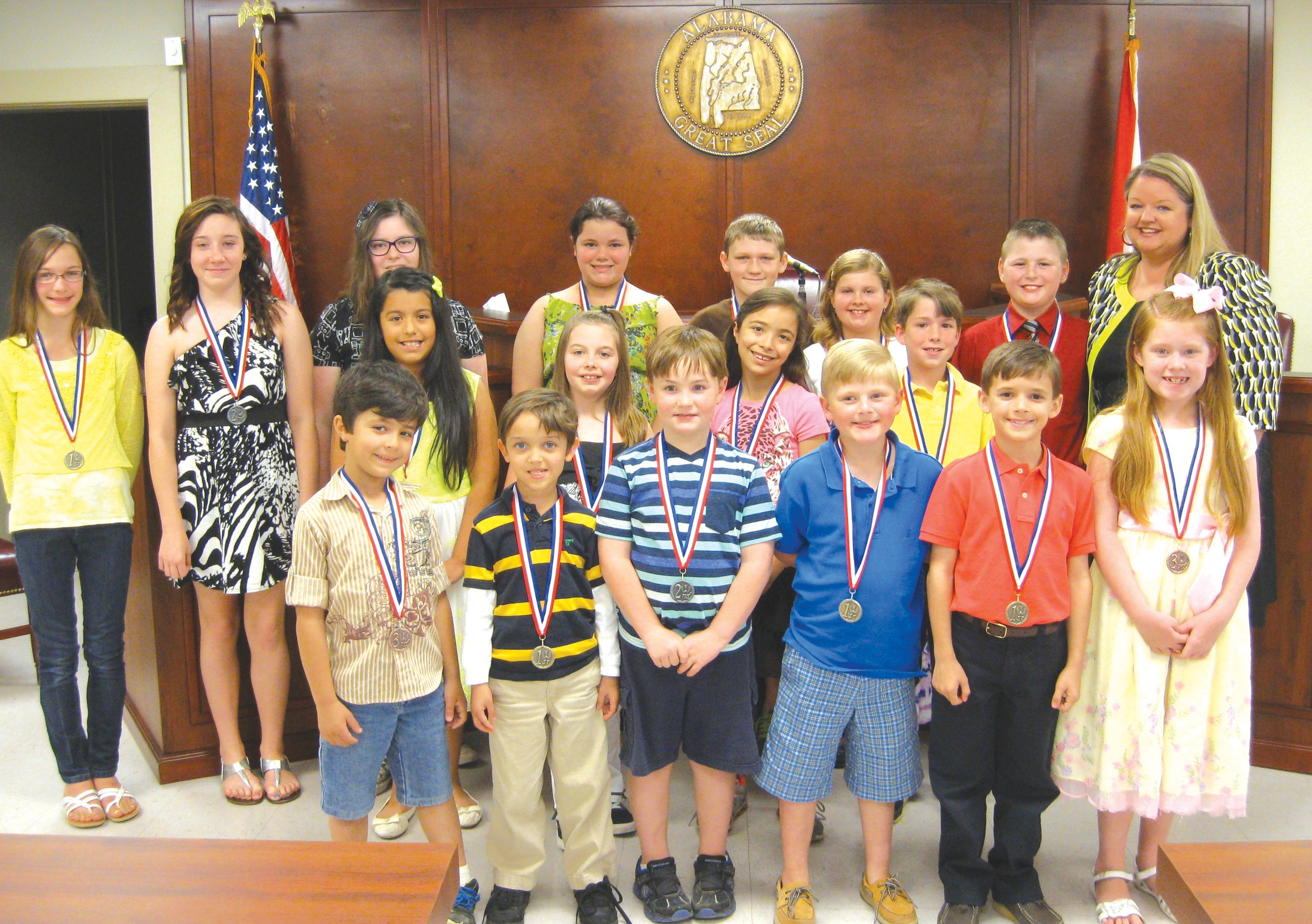 Each school in Blount County had a winner in connection with the Blount County Children's Center 'Be a Hero – Stop Child Abuse' poster contest, and these students were recognized for their achievement last month. In total, 224 posters were submitted for the contest. – Nicole Singleton