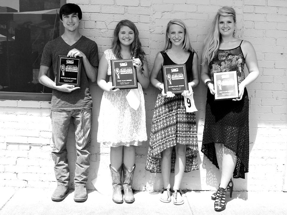 Singing Showndown winners Cody Johnson, Addison Nolen, Lacey Whitefield, and Brittany Poe Teeter