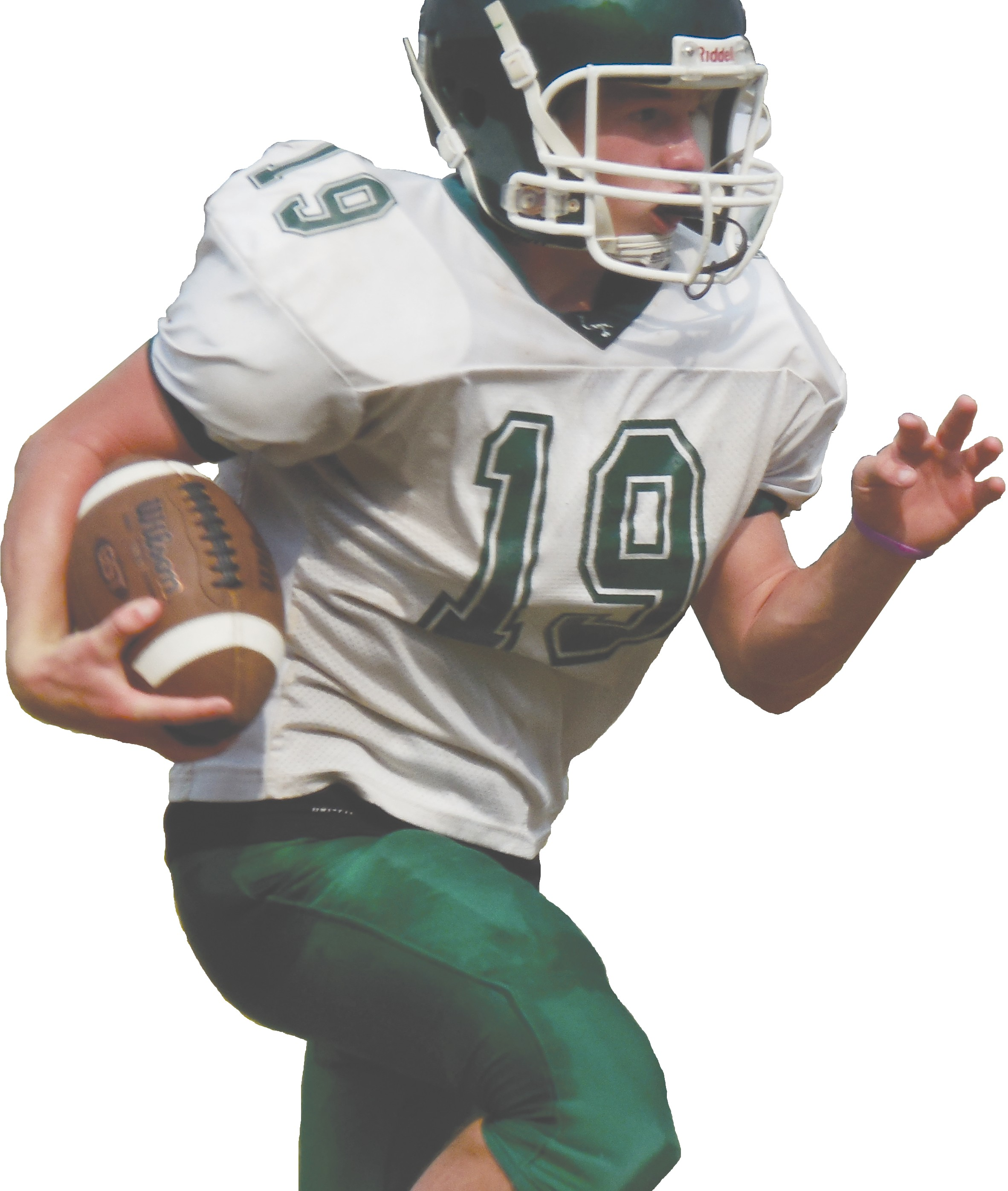Locust Fork's Daniel Kurlik carries the ball during practice last week. Kurlik and the Hornets will open the season next week – Friday, Aug. 22 – with a trip to Montevallo. Southeastern will play their first game that night – the school's first-ever home game as Ohatchee comes to town. The rest of the county will have jamborees next week and will open the season the following week.