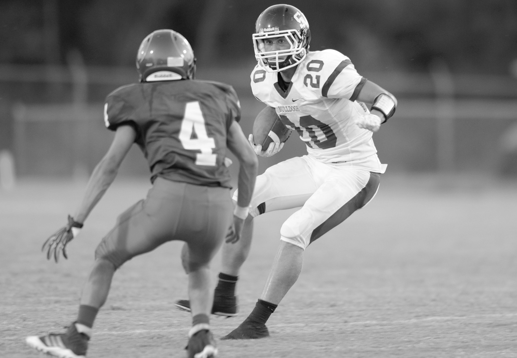 Susan Moore running back Jay Williams makes a move on a West End defensive back.