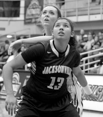 Oneonta's Grace Coefield and Jacksonville's Sierra Stone eye a rebound.