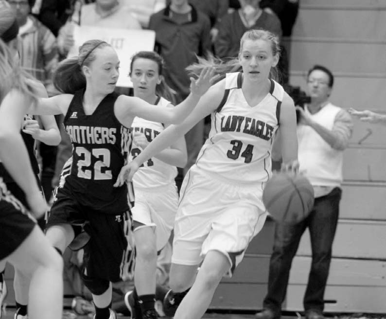 Appalachian's Stephanie Metzler works her way through the Woodville defense.