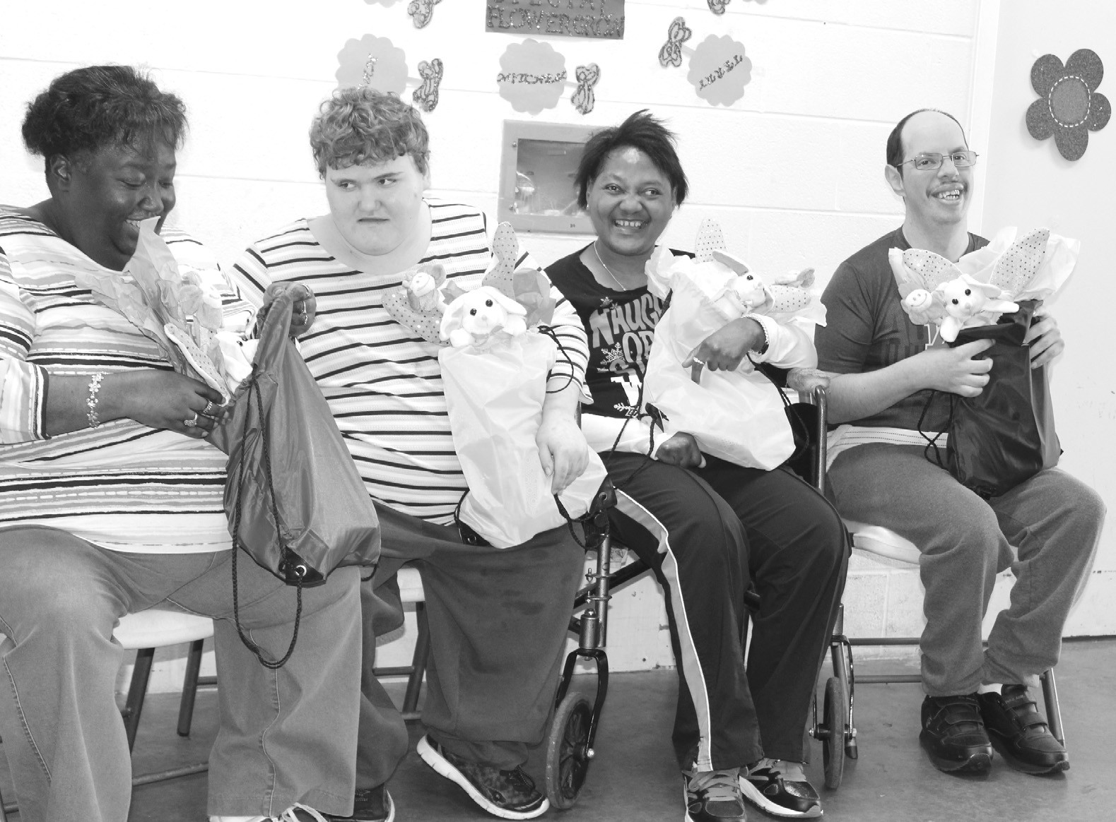 Arc clients receive easter presents from variosa club the variosa club continued a tradition of providing easter gifts to the clients at the blount negle Choice Image