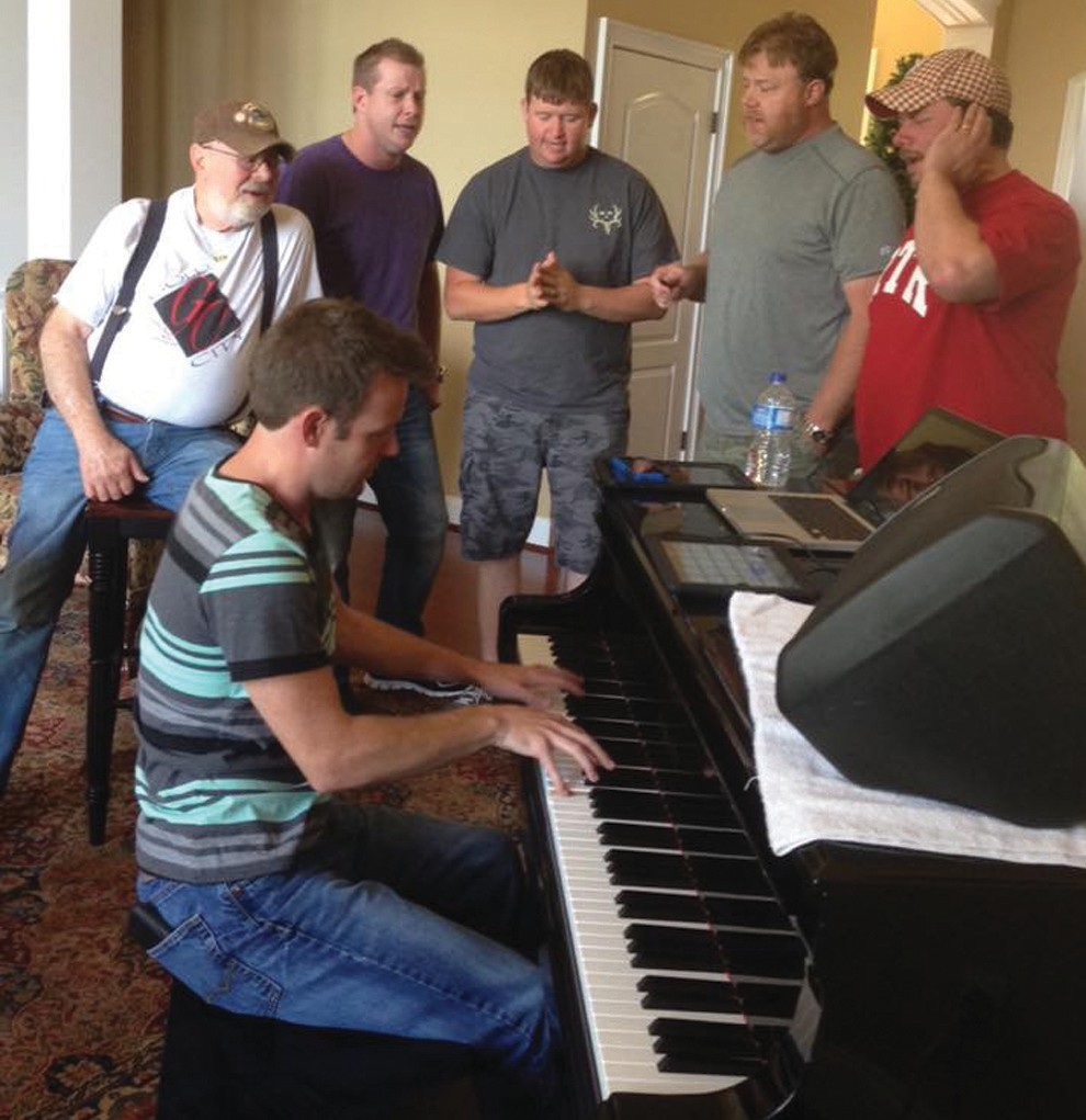 Gold City: practice session at Tim's house for a concert