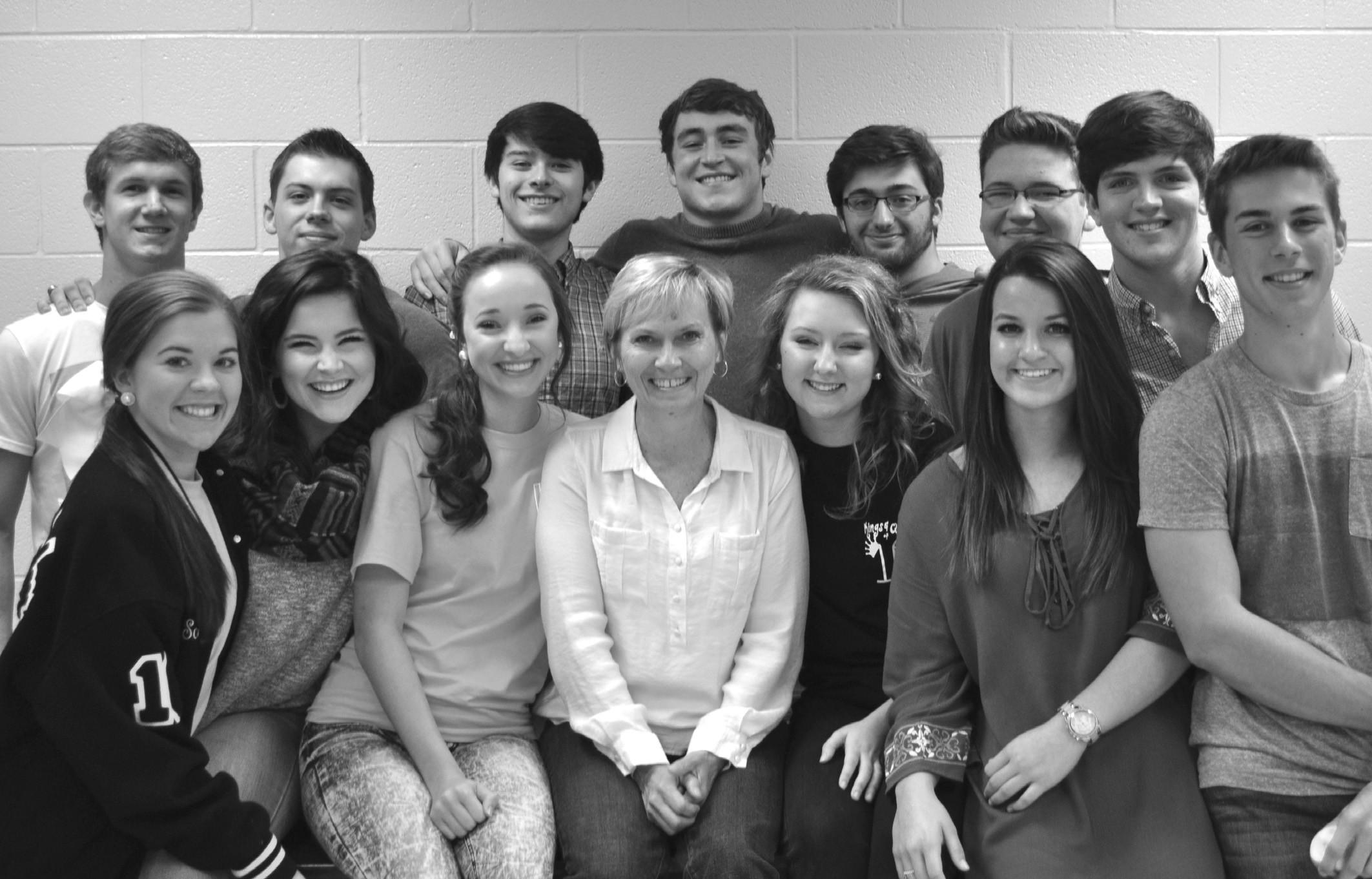 Karron Standridge with some of her Hayden High students