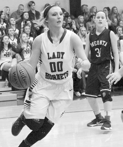 Locust Fork's Jaime Gail Hudson drives to the basket during last week's win over Oneonta.